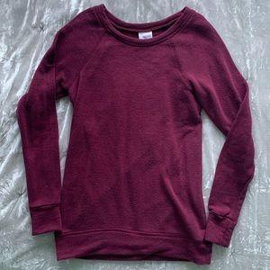 Burgundy Full Tilt Crew Neck Sweater